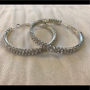 Jewelry - Sparkly Hoop Earrings